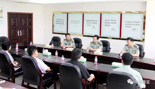 李灵敏带领区四大家领导走访慰问驻军部队官兵