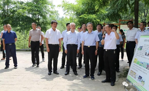 尚朝阳率队莅临平桥区现场观摩农村人居环境整治工作