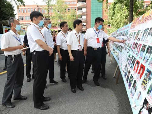 乔新江到平桥区检查指导高考准备工作
